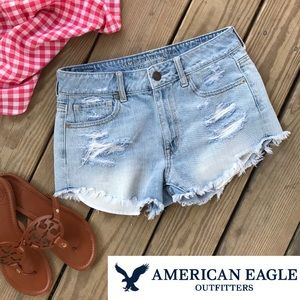 American Eagle Distressed Ripped Shorts 6